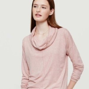 Lou & Grey dusty rose cowl neck pullover tunic